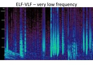 ELF-VLF –  very low frequency
