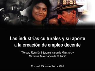 Las industrias culturales y su aporte a la creación de empleo decente