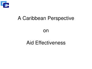 A Caribbean Perspective on Aid Effectiveness