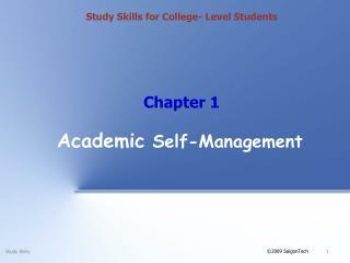 Academic  Self-Management