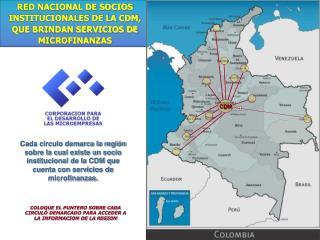 RED NACIONAL DE SOCIOS INSTITUCIONALES DE LA CDM, QUE BRINDAN SERVICIOS DE MICROFINANZAS