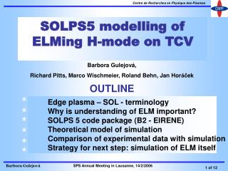SOLPS5 modelling of ELMing H-mode on TCV