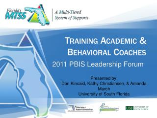 Training Academic  Behavioral Coaches