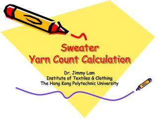 Sweater Yarn Count Calculation
