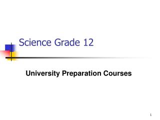 Science Grade 12