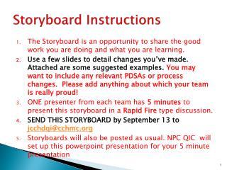Storyboard Instructions