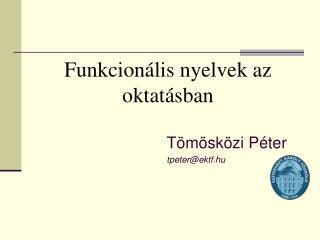 Funkcionális nyelvek az oktatásban