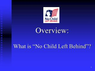 Overview: What is �No Child Left Behind�?
