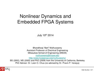 Nonlinear Dynamics and Embedded FPGA Systems