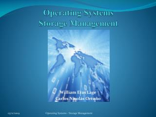 Operating Systems Storage Management