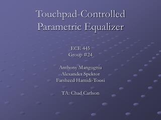 Touchpad-Controlled Parametric Equalizer