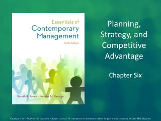 Planning, Strategy, and  Competitive Advantage