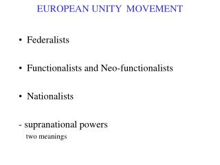 EUROPEAN UNITY  MOVEMENT