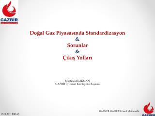 Dogal Gaz Piyasasinda Standardizasyon  Sorunlar   ikis Yollari     Mustafa Ali AKMAN GAZBIR I  Tesisat Komisyonu Baskani