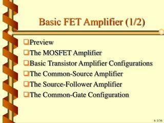 Basic FET Amplifier (1/2)