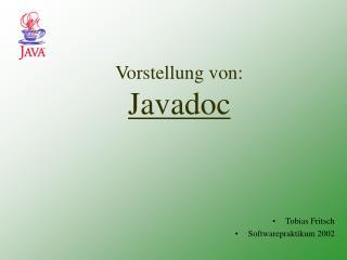 Vorstellung von: Javadoc