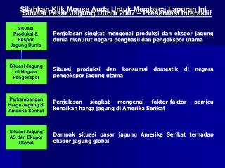 Situasi Produksi & Ekspor Jagung Dunia