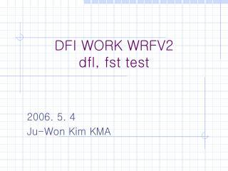DFI WORK WRFV2 dfl, fst test