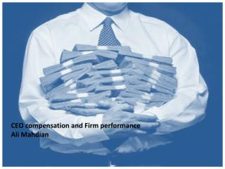 CEO compensation and Firm performance Ali Mahdian