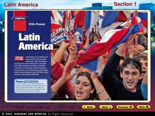 Preview Starting Points Map: Turmoil in Latin America Main Idea