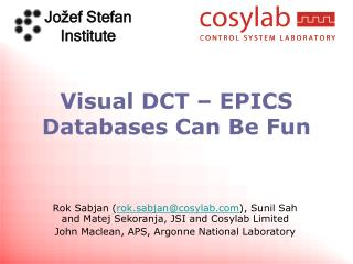 Visual DCT – EPICS Databases Can Be Fun