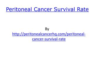 Peritoneal Cancer Survival Rate