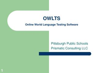 OWLTS Online World Language Testing Software