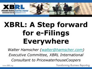 XBRL: A Step forward for e-Filings Everywhere