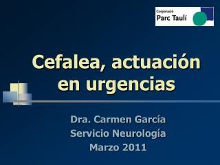 Cefalea, actuación en urgencias