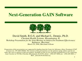 Next-Generation GAIN Software