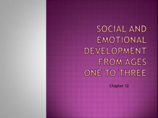 Social and emotional development from ages  one to three
