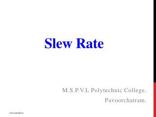 Slew Rate