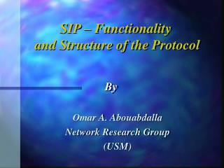 Omar A. Abouabdalla Network Research Group (USM)