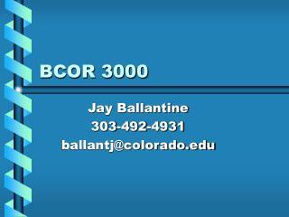 BCOR 3000