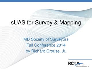 sUAS for Survey & Mapping