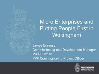 Micro Enterprises and Putting People First in Wokingham