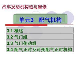 单元 3    配气机构