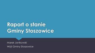 Raport o stanie  Gminy Stoszowice