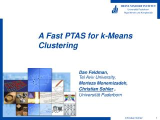 A Fast PTAS for k-Means Clustering