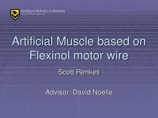 Artificial Muscle based on Flexinol motor wire