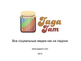 Все социальные медиа как на ладони jagajam 201 3