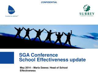 May 2014 – Maria Dawes: Head of School Effectiveness