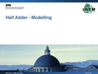 Half Adder - Modelling