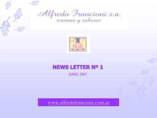 NEWS LETTER Nº 1 JUNIO 2007
