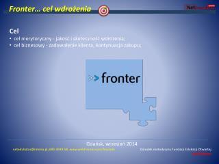 Fronter… cel wdrożenia
