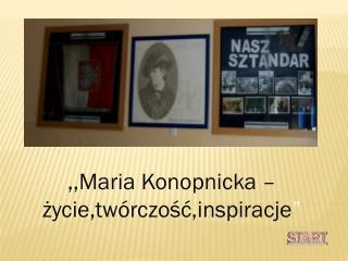""",,Maria Konopnicka – życie,twórczość,inspiracje """""""