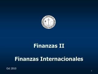 Finanzas II Finanzas Internacionales