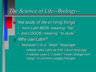 The Science of Life--Biology--