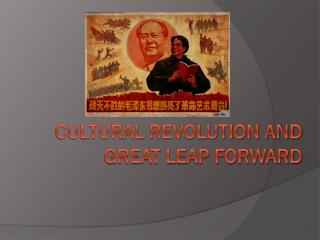 Cultural Revolution and Great Leap Forward