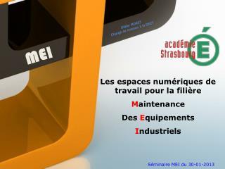 Séminaire MEI du 30-01-2013